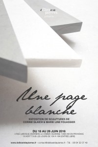affiche expo Une page blanche